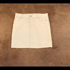 White House Black Market Skirts - White House Black Market WHBM denim mini skirt